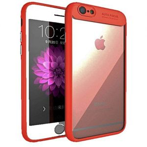 NOW Apple Iphone 7 Shockproof Fall Resistance Anti Knock Phone Case Ipaky- Red & Transparent