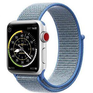 Apple iWatch 3 Nike Sports Strap Belt – 38MM – Black & Blue