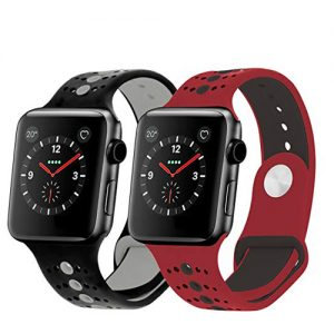 NOW Apple iWatch 3 Nike Sports Strap Belt – 38MM – Black & Red