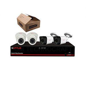 Buy Cpplus 2Mp Full Hd 4 Cctv Cameras Dvr Kit – Night Vision – White