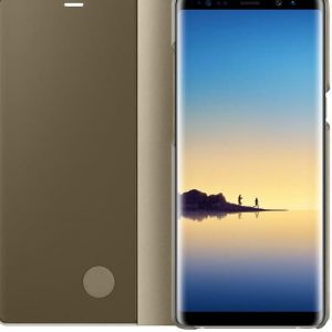 NOW Clear View Standing Cover For Samsung Galaxy Note 8 – Golden