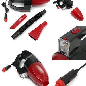 Now Buy Portable 60W Red Wet And Dry Car Vacuum Cleaner With Led