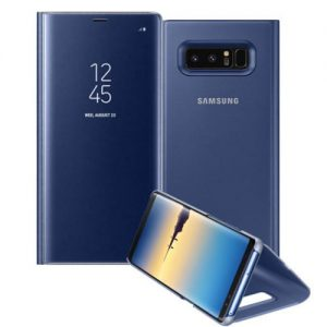 NOW BUY Samsung Note 9 Clear View Standing Flip Cover – Blue