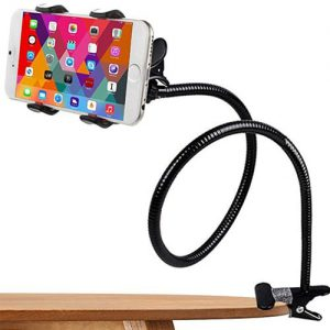 NOW Flexible Neck Snake Stand Mobile / Tablet Phone Holder 360 Degree Rotation Necklace Long Arm Lazy Bracket – Black