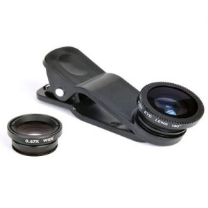 NOW Universal Clip Lens For Mobiles 3In1 – Black