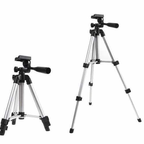 WT3110A - Portable Mobile Phone Tripod Stand - Silver