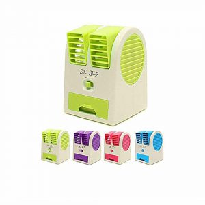 Mini High Quality Air Cooler USB or 3 x AA batteries- Multicolored