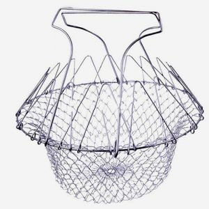 Chef Basket -Silver – Steel