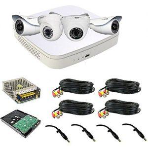 Cpplus 2Mp Full Hd 4 Cctv Cameras 1080P Dvr Kit – Night Vision – White