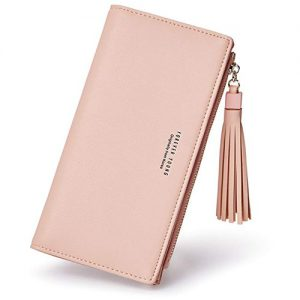 Latest Fashion Women Leather Pink Wallet And Card Holder
