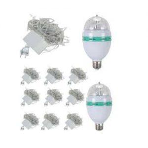 Pack Of 12 – Rotating Led Bulb & Led Fairy Light String