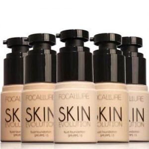 Focallure Professional Face Foundation Concealer Liquid Makeup Base – Porcelain