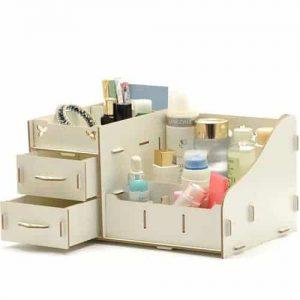 Cosmetic Organizer Box – Off White