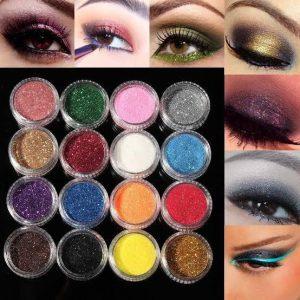 Eye Maskara Glitter Eye Shadow Professional 3D Eyes Makeup Glitter