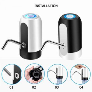 Portable Automatic Electric Water Pump Dispenser Drinking Bottle USB Rechargeable