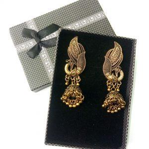 Beautiful Antique Jewellery Copper Jhumka for women Drop Earrings Peacock Style