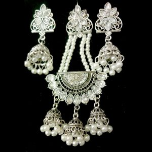 Beautiful Unique Antique Style Jewelry for Women – Jhumer & Earrings – Silver
