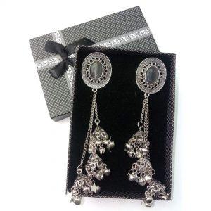 Beautiful Antique Jewellery Silver 3 Drop Jhumka for women Earrings