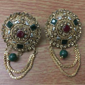 Beautiful Antique Golden Indian Style Drop Earrings for women