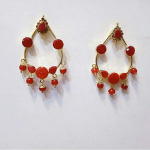 Traditional Zircon & Pearl Jewellery With Round Earring For Girls & Womens