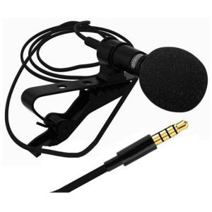 Mic / Microphone For Youtube Recording, Collar Mic For Pc / Color-Black