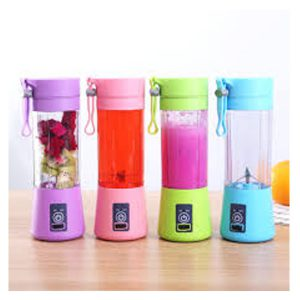 4 Blades Mini Portable Electric Fruit Juicer Blender Mixer Grinder Usb Rechargeable Smoothie Maker Machine Sports Bottle Juicing Cup