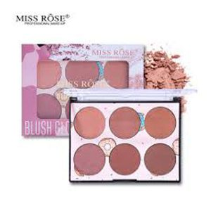 6 Color Miss Rose Blush Palette