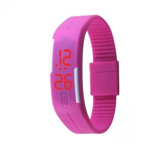 Pack of 3 – Multicolour Silicone & Rubber LED Digital Wrist Watch For Men