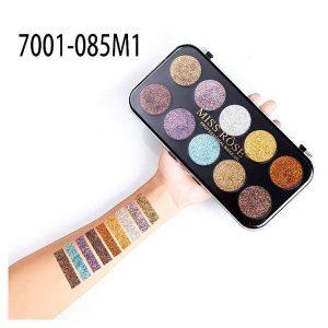 MISS ROSE 10 Colors Glitter Eyeshadow Palette