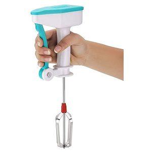 Semi-automatic Mixer Egg Beater Manual Self Turning Stainless Steel Whisk Hand Blender Egg Cream, Easy flow blender 5x faster