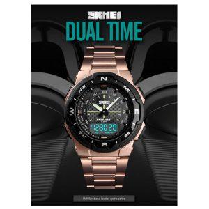 SKMEI 1370 Men Watch Fashion Quartz Sports Watches Stainless Steel Men Watches Top Brand Luxury Business Waterproof Wrist Watch