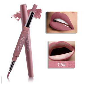 Miss Rose Matte lip gloss + liner 2 in 1