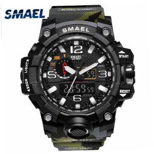 Military Watch Digital SMAEL Brand Watch S Shock Men's Wristwatch Sport LED Watch Dive 1545B 50m Wateproof Fitness Sport