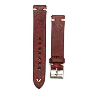 happy-island Straps Vintage Style Distressed Leather Wome/Men Watch Band Strap with Stitching [ 22mm ]