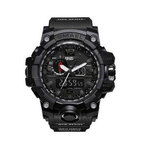 SKMEI 1545 Men Digital Waist Watch 50m Waterproof Outdoor Sports Wristwatch