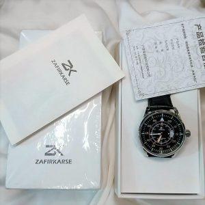 ZK Men's Watch 2021 Fashion Quartz Gold Clock Zafirkarse Brand Top Luxury All Steel Men Wristwatch Waterproof Date Dial Watch+Box