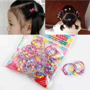 GIRLS SMALL SIZE FLEXIBLE POLYURETHANE HAIR BANDS PACK OF FIFTY