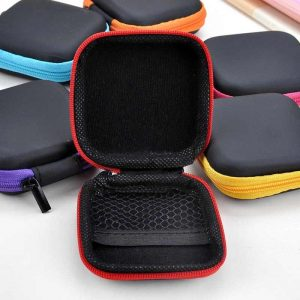 Portable Zipper Storage Hand Carrying Case For Earphones, Handsfree, and Other Accessories Organizer Purse Gifts