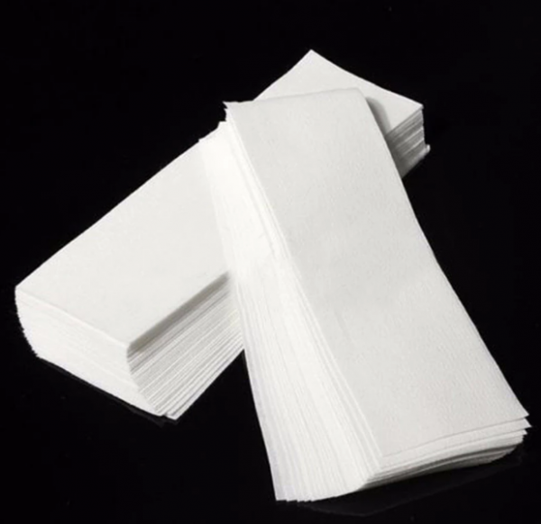 High-quality nonwoven fabric cloths used to aid in the depilatory waxing process An excellent waxing strip for removing unwanted hair from all areas of the body. It is convenient and sanitary, it's definitely a must-have for home use or salon.